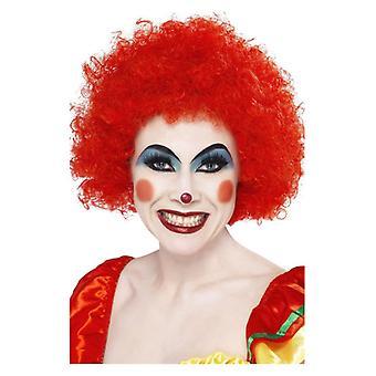 Volwassenen rode gek Clown pruik Fancy Dress accessoire