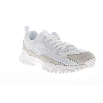 Umbro Bumpy Mens White Suede & Mesh Low Top Lace Up Sneakers Shoes