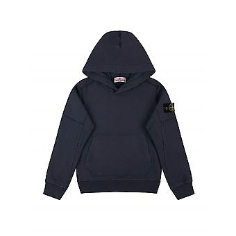 Stone Island Junior Blue Hooded Sweatshirt
