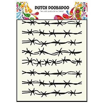 Niederländische Doobadoo Stacheldraht A5 Schablonenmaske 470.715.008