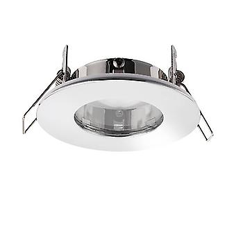 Saxby Lighting Speculo Fire Rated 1 Light Bathroom Recessed Light Chrome Plate, Glass IP65 79980