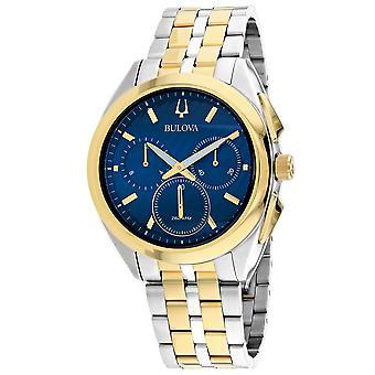 Bulova Men's Curv Blue Dial Watch - 98A159