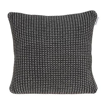 Gray Sweater Knit Square Accent Pillow Cover