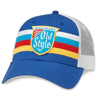 Old Style Beer Striped Vintage Mesh Trucker Hat