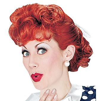 I Love Lucy 50s Housewife Licensed Women Costume Wig