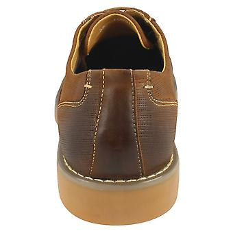 Thomas Blunt Mens Fabric Look Lace Up Brogue Shoes