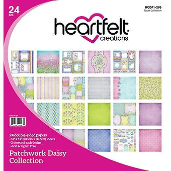 "Heartfelt Creations Double-Sided Paper Pad 12""X12"" 24/Pkg-Patchwork Daisy"