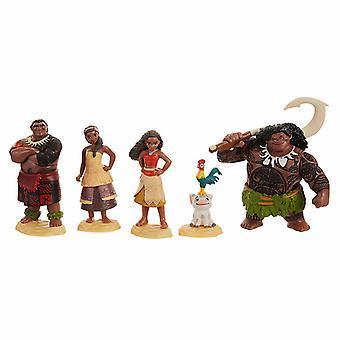 Disney Vaiana Moana Maui The demigod Figurines playset 6pcs
