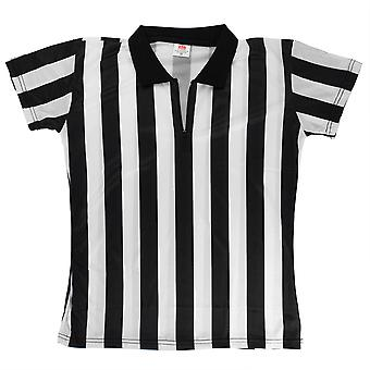 Women's Official Striped Referee/Umpire Jersey, L