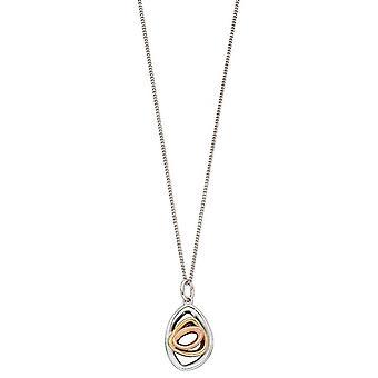 Elements Gold Pebble Shape Stud Pendant - White Gold/Gold/Rose Gold