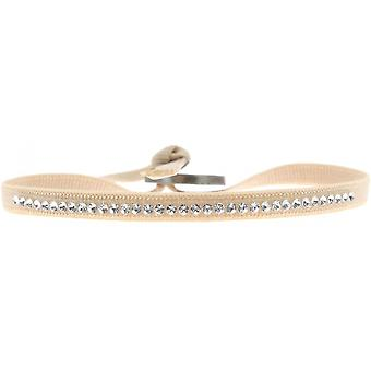 Bracelet Les Interchangeables A17651 - Bracelet Tissu Rose Cristaux Swarovski Femme