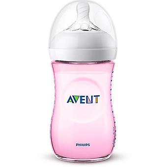 Avent Natural 2.0 Suction Bottle 260ml Pink