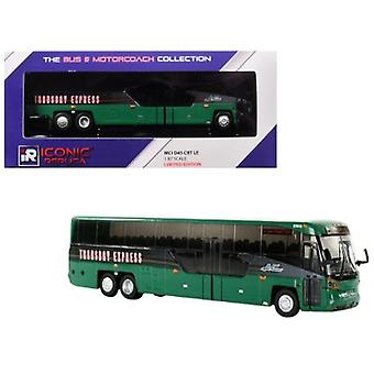 MCI D45 CRT LE Coach AC Transit Bus Transbay Express (San Francisco) Green 1/87 Diecast Model di Iconic Replicas