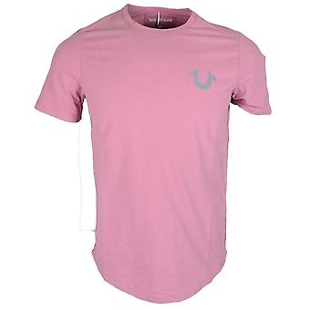 True Religion Reflective Crew Pink T-shirt