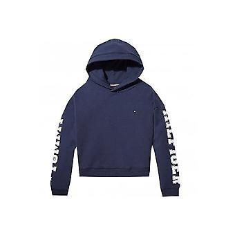 Tommy Hilfiger Girls Navy Essential Branded Hoody