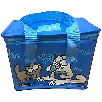 Simon's Cat Cooling Bag Lunchbox blue/grey/white, woven, colorfully printed, 90% polypropylene, 10% aluminum foil.
