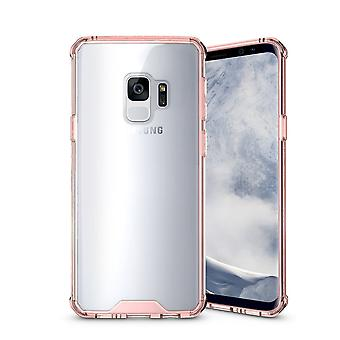 For Samsung Galaxy S9 Back Case,Shockproof Transparent Armour Cover,Magenta