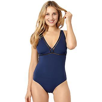 Miss Sans Complexe 28LAF06 Women's Mykonos Deep Blue Costume One Piece Swimsuit