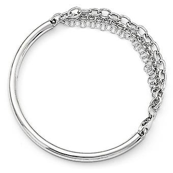 4mm 925 Sterling Silver Fancy Bracelet 7 Inch Joias Presentes para Mulheres - 7,8 Gramas