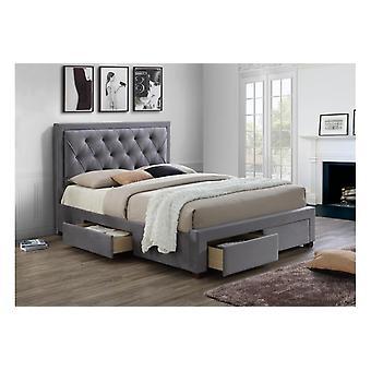 Merged-woodbury Bed - Fabric - Grey