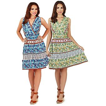 Pistachio Women's Floral & Paisley Sun Dress