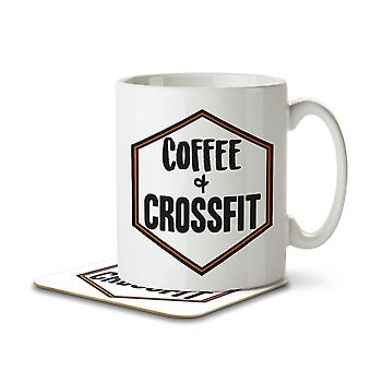 Coffee + Crossfit - Mug and Coaster