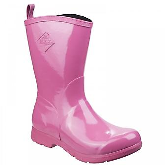 Muck Boots Ladies 100% Waterproof Pink Bergen Mid Lightweight Neoprene Footbed Rain Boots
