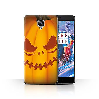 STUFF4 Case/Cover for OnePlus 3/3T/Scary/Halloween Pumpkin