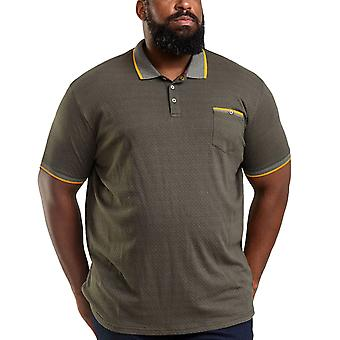 Duke D555 Mens Marshall Big Tall King Size Tipped Cotton Polo Shirt Top - Khaki