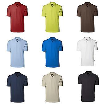 ID unisexe Oui Short Sleeve régulière raccord plaine coton Polo Shirt