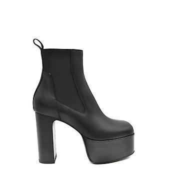 Rick Owens Ezbc436003 Women's Black Leather Ankle Boots