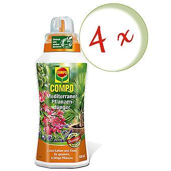 Sparset: 4 x COMPO Mediterranean plant fertilizer, 500 ml