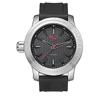 Cougar Time Impulse wrist watch, analog, Silicon band, silver/black