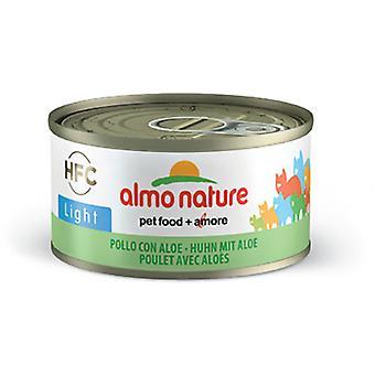 Almo nature Comida Humeda de Gatos en Lata Light de Pollo y Aloe