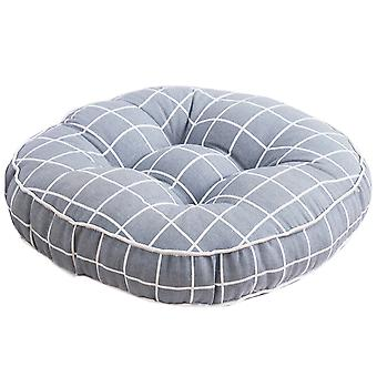 Four nails cotton canvas round printed cushion