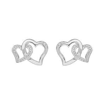 Bijoux pour tous - Damen Lappen Ohrringe mit Diamant (0 -01 ct) - Silber Sterling 925 - perd. ERS-K21101