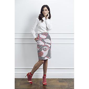 Pencil tweed woman skirt