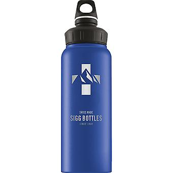 Sigg Alu WMB Mountain Blue Touch Non-insulated Water Bottle (1L) -