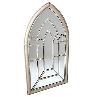 Charles Bentley Dekorative Rustik Store Udendørs Arch Mirror Vindue Lurvet Chic - Cream H112 x W61 x D4cm