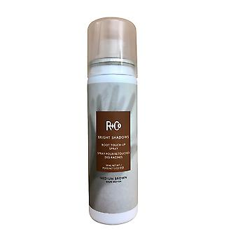 R&Co Bright Shadows Root Touch Up Spray Medium Brown 1. 5 OZ