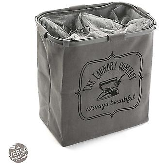 Wellindal double gray clothes hamper (Decoration , Boxes and baskets , Baskets)