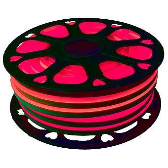 Jandei Fleksibel NEON LED Strip 25m, rød lys farve 12VDC 8 * 16mm, 2,5 cm Cut, 120 LED / M SMD2835, Dekoration, Figurer, LED Plakat