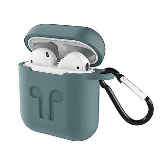 Soft Case AirPods 1 and 2 Anti-fingerprint Anti-Scratch with Carabiner- Grey