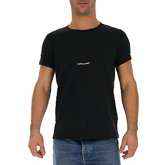 Saint Laurent 464572yb2dq1000 Men's Black Cotton T-shirt