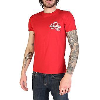 Man cotton short t-shirt round t-shirt top n16759