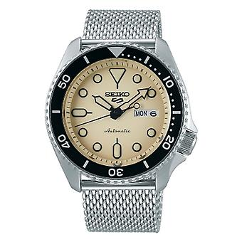 Seiko Watches 5 Sports Srpd67k1 Cream & Silver Mesh Automatic Men's Watch