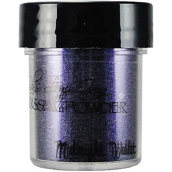 Lindy's Stamp Gang Midnight Violet Obsidian Embossing Powder