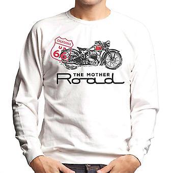 Route 66 Mother Road motorcykel sweatshirt til mænd