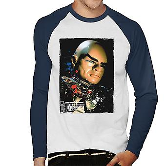 Thunderbirds Hood Ritratto Uomo's Baseball T-Shirt a maniche lunghe