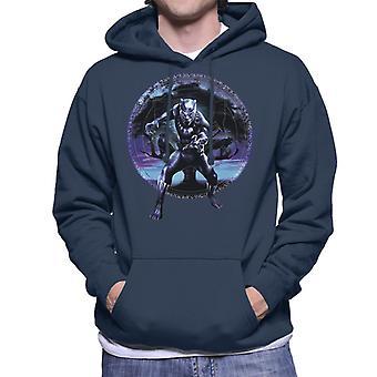 驚嘆ブラックパンサー ツリー モンタージュ メンズ フード付きスウェット シャツ